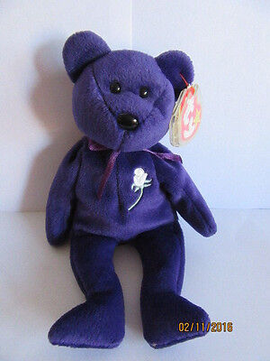 Nwt Ty Beanie Baby Bear Princess - Made In China