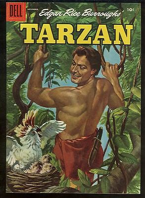 Tarzan 74 NM-/NM 1950s Dell Comics Painted cover