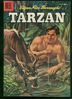 Tarzan 78 NM- 1950s Dell Comics Painted cover