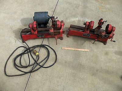 2 TRUCUT ARMATURE LATHE UNDERCUTTER B10 FRANK WOOD MACHINE one MOTOR