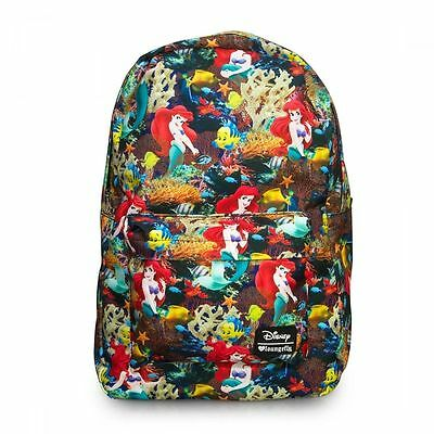 Disney Ariel Backpack Little Mermaid All Over Print Loungefly