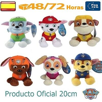 Patrulla Canina Lote 6 Peluches 20cm juguete regalo PRODUCTO OFICIAL Paw Patrol