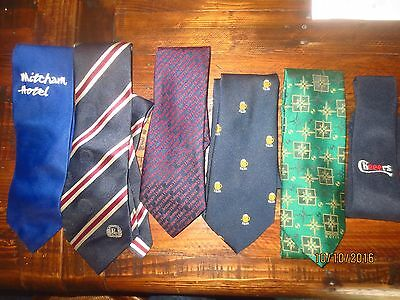 6 official Australia HOTELS /  TIES very collectable
