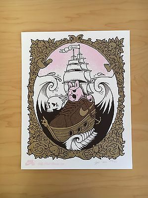 Jeremy Fish Nike Sb Pink Bunnies Rare Limited Print Poster SIGNED Numbered