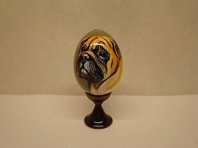 Russian eggs. High quality. Hand-painted  Bullmastiff