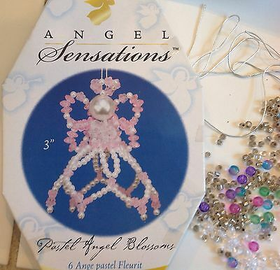 Craft Holiday Christmas Tree Ornament Kit Makes Wire Beads Angels Bells Blossoms