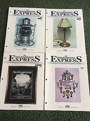 1997 The Railroadiana Express Magazine, Lot of all 4 issues