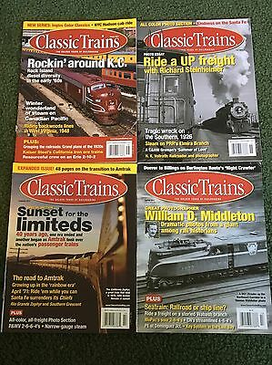 2011 Classic Trains Magazine, Lot of all 4 issues