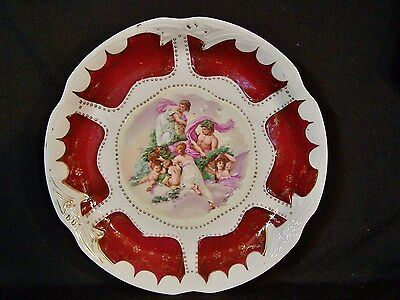 Antique ROYAL VIENNA HP Romantic Scene Beehive Mrk PLATE PLATTER CHARGER Germany