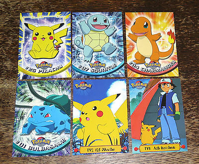 Pokemon Topps Trading Cards, Six Series 1 Oversized Promotional Cards, Mint Rare