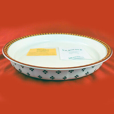 """Villeroy&Boch SWITCH PLANTATION SIMLA Quiche Dish 12.75"""" NEW NEVER USED Germany"""