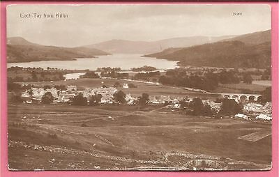 Loch Tay from Killin, Perthshire, Scotland postcard. Real Photo.