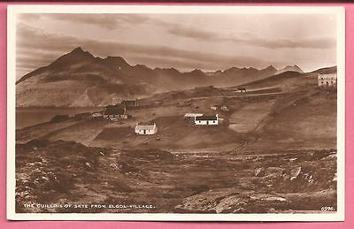 The Cullins of Skye from Elgol Village, Isle of Skye, Scotland postcard. R P.