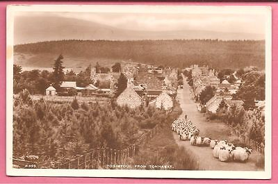 Tomintoul from Tomnabat, Moray, Scotland postcard. Real Photo. J.B. White.