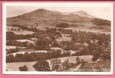 Killiecrankie and Ben-y-Vrackie, Perthshire, Scotland postcard. Real Photo.