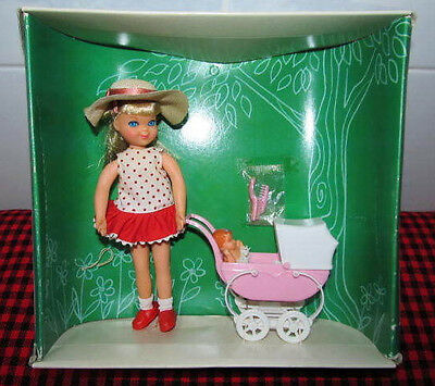 """1966 EXTREMELY RARE Barbie Vtg.~""""TUTTI""""~BOXED SET~WALKIN`MY DOLLY!~3552~NEW+MINT"""