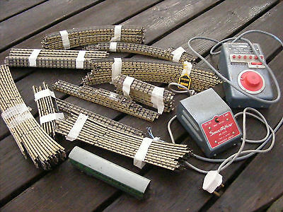 Job Lot Of Vintage Hornby Dublo 3 Rail Track And Triang Power Controller