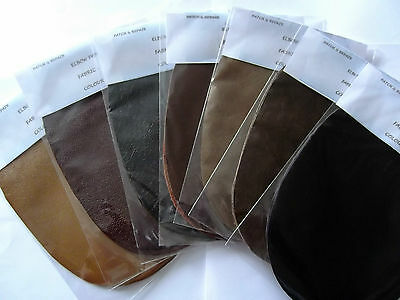 Stunning Dark Coloured 100% Leather Elbow / Patches / Trimmings