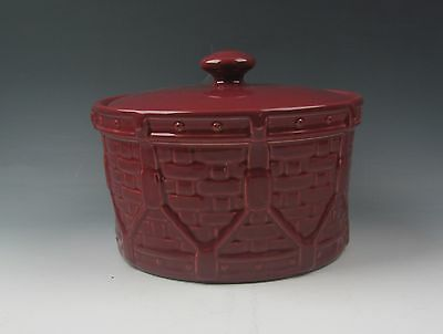 Longaberger WOVEN TRADITIONS-PAPRIKA Storage Crock with Lid EXCELLENT