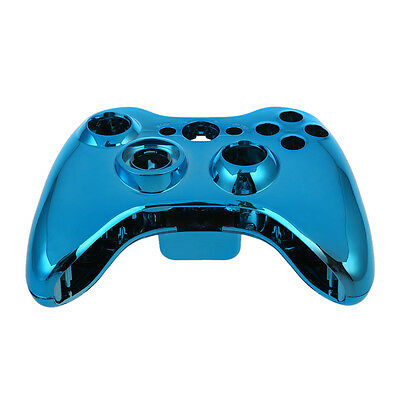 07S8 Blue Chrome Custom Wireless Controller Replacement Shell Case Kit for Xbox