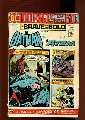 BRAVE AND THE BOLD 115(2.0)(GD)BATMAN-ATOM-DR FATE--DC(b025)