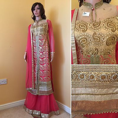 *REDUCED*Readymade Asian,Sharara Suit UK SIZE10-12(bust size-39).