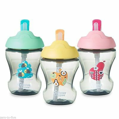Tommee Tippee Training Straw Cup 7M+ Boys And Girls Colours  Bpa Free