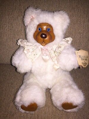 """Vtg Robert Raikes Blue Eyes """"sophie"""" Jointed Articulated Bear~W/ Tags"""