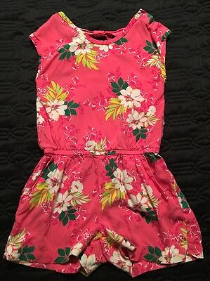 TCP Girls Pink Floral One Piece/Shorts Jump Suit/Romper Size S/5-6