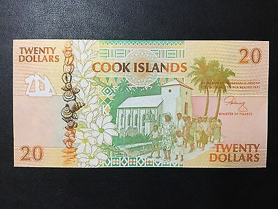 1992 Cook Islands Paper Money - 20 Dollars Banknote !