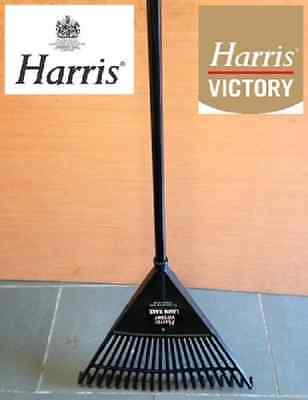 Harris Victory PLASTIC LAWN RAKE for leaf leaves grass cutting , garden tool