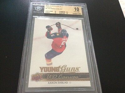 2014-15 Aaron Ekblad Young Guns Rookie Canvas C105 Pristine BGS 10