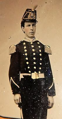 Civil War Soldier 9th plate Tintype in full case