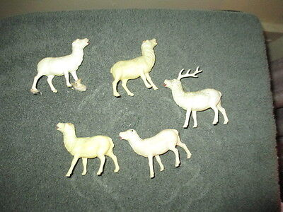 Vintage Lot Of Celluloid Deer Figure / Made In USA