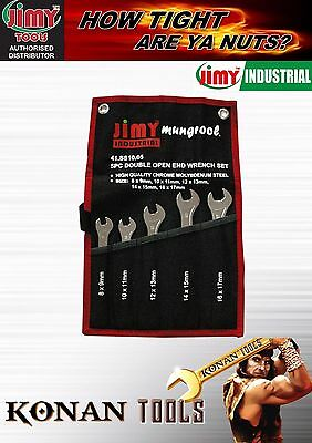 Super Thin Open End Spanner Set 5 Piece Metric
