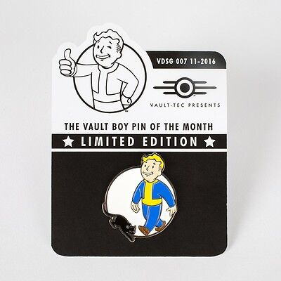 Fallout Vault Boy Of the Month Pin VBOTM-007: LUCK PIN New!! Sold Out