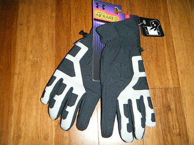 Under Armour Coldgear Infrared Warmest Storm Stealth Gloves Large Tech Touch Htf