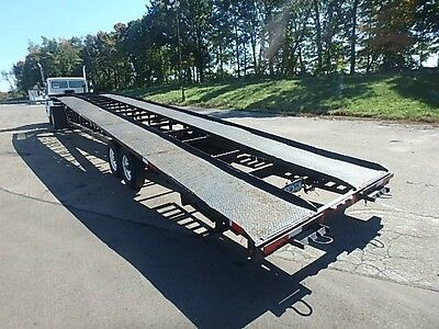 2000 Kaufman 50ft 3-car hauler wedge trailer w/ gooseneck hitch - No reserve