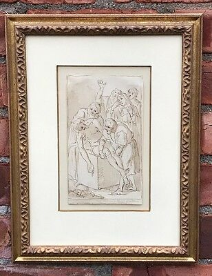 17th Century Old Master Drawing Attr To Lazzaro Tavarone. Possibly Luca Giordano