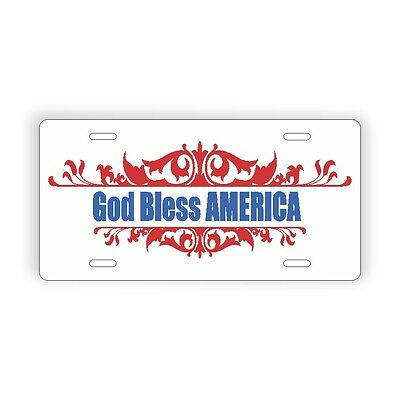 "God Bless America Novelty Vehicle License Plate 6"" x 12"""
