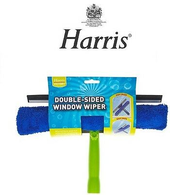 Harris Double Sided Window Cleaner Wiper Wash & Wipe Microfibre Pad Squeegee 553