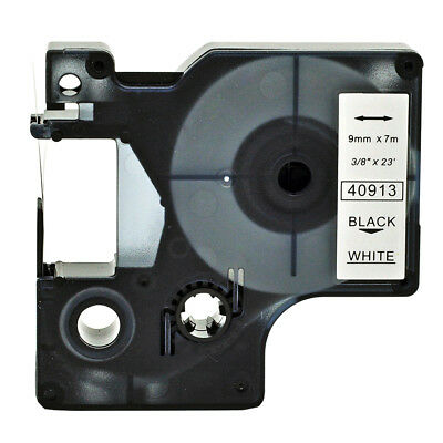 Compatible DYMO D1 40913  Label Tape LabelManager Black on White Labelpoint 9mm