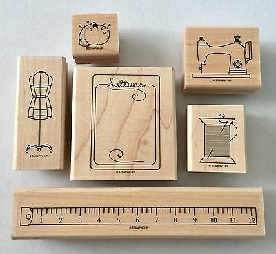 Stampin Up Wooden Stamp Set - Sew suite