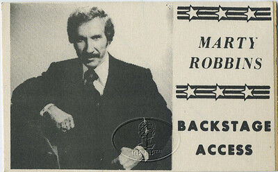MARTY ROBBINS 1970s Backstage Pass