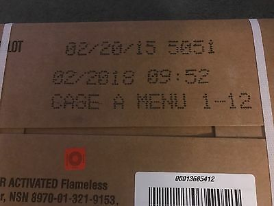 Military MRE Case (A) 2018 Inspection Dates Hunting Fishing Camping +++