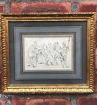 16th Century Old Master Drawing. Adoration Of The Magi. Attr Christian Schwartz