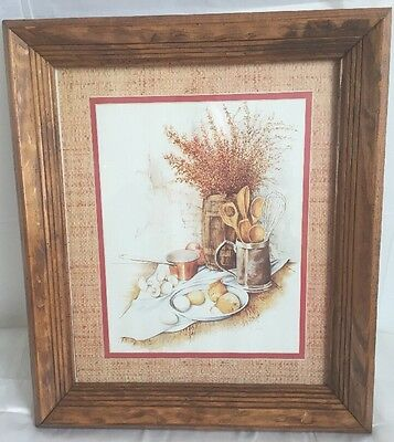 HOMCO Home Interior Print by E Hale 1315 AO SUNDAY BRUNCH Framed Picture