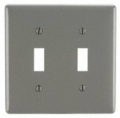 Pass and Seymour TP2-GRY Grey Wall Plate, 2G Toggle Switch, Pack of 5