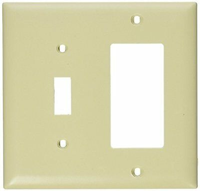 Pass Seymour TP126-I Wall Plate, Combination Open, 1 Toggle Switch 1 Decorator