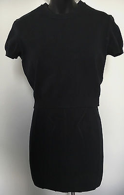 Vintage Alaia Black Set 2pc Knit Top Size M & Skirt Size S RARE~Great Condition!